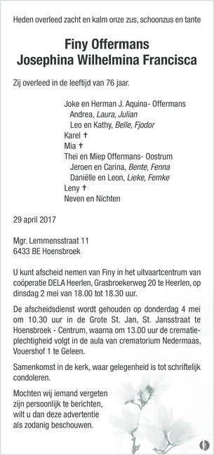 2017-Finy Offermans